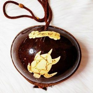 Tiny coconut purse from Hawaii